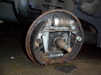 Skoda Felicia rear wheel loss -  motorway traffic incident
